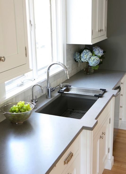 Caesarstone Pebble Countertop, Contemporary, kitchen, Benjamin Moore ...