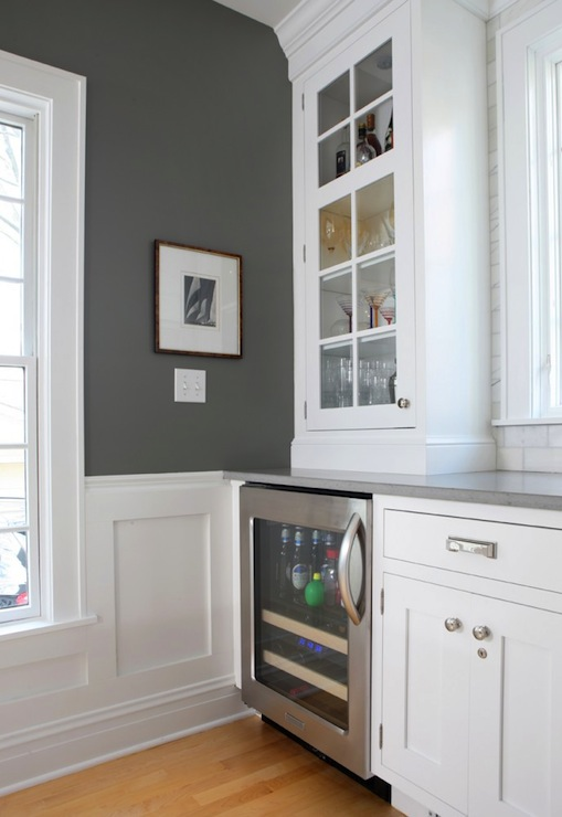 charcoal gray paint color contemporary kitchen