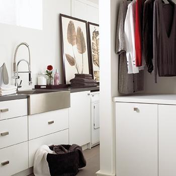 Basement Laundry Room, Contemporary, laundry room, House & Home