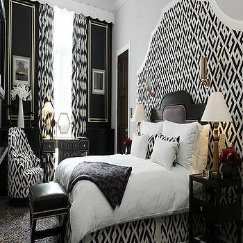 Big Headboards , Hollywood Regency, bedroom