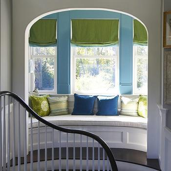Curved Built In Window Seat, Contemporary, entrance/foyer, Lynn Morgan Design
