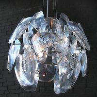 Lighting - Mecox Gardens - El Sol Clear Chandelier Detail - clear, modern, chanderlier, pendant,