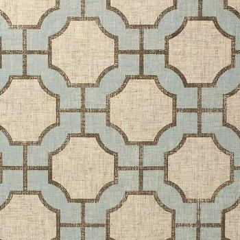 Wallpaper - Imperial Gates Dove - Phillip Jeffries - dove, blue, taupe, linen, geometric, wallpaper,