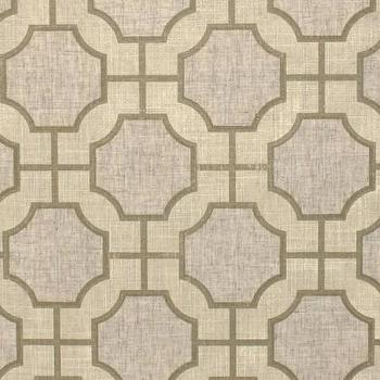 Wallpaper - Imperial Gates Champagne - Phillip Jeffries - cream, linen, beige, champagne, linen, geometric, wallpaper,