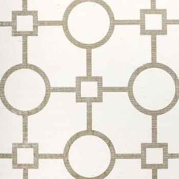 Wallpaper - Union Square Gold - Phillip Jeffries - gold, white, manila, hemp, wallpaper, geometric,