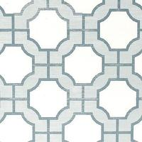 Wallpaper - Imperial Gates Harbor Blue - Phillip Jeffries - dove, harbor, blue, white, geometric, wallpaper,