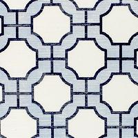 Wallpaper - Imperial Gates Periwinkle - Phillip Jeffries - periwinkle, blue, navy, white, geometric, wallpaper,
