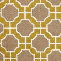 Wallpaper - Imperial Gates Yellow - Phillip Jeffries - yellow, white, jute, wallpaper, geometric,