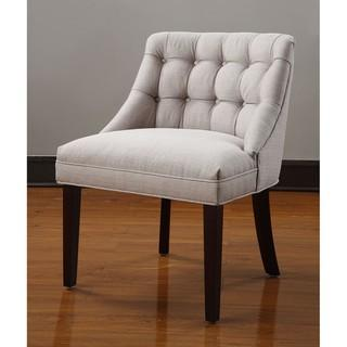 Seating - Belmont Tufted Back Chair | Overstock.com - tufted, chair, gray, expresso, legs, accent, dining,