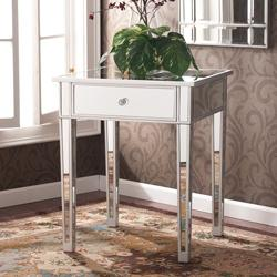 Tables - Sanira Mirror Side End table | Overstock.com - mirrored, side, end, table, nightstand,