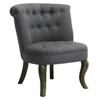 Seating - Melissa Tufted Blue/Gray Accent Chair | Overstock.com - blue, gray, accent, chair, tufted,