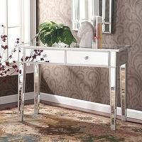 Tables - Dalton Mirrored Accent Table | Overstock.com - mirrored, accent, table, console,