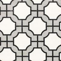 Wallpaper - Imperial Gates Black - Phillip Jeffries - black, white, manila, geometric, wallpaper,