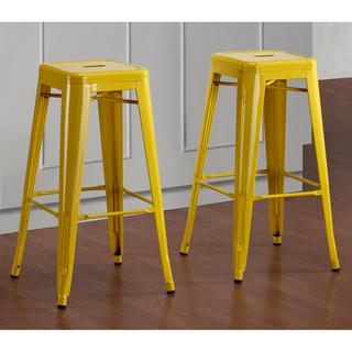 Tabouret 30-inch Lemon Metal Bar Stools (Set of 2), Overstock.com