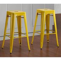 Seating - Tabouret 30-inch Lemon Metal Bar Stools (Set of 2) | Overstock.com - tabouret, lemon, yellow, metal, steel, barstools, bar, stools,