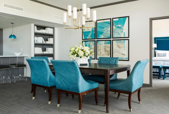 peacock blue dining room hollywood regency dining room