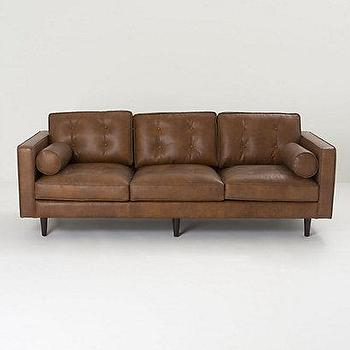 Seating - Kistler Sofa - Anthropologie.com - leather, brown, Mid-Century, Modern, sofa,