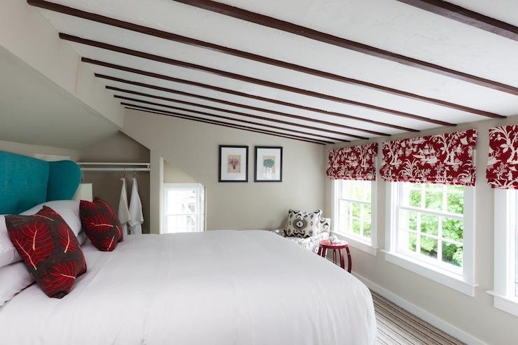 Teal Headboard Eclectic Bedroom Rachel Reider Interiors