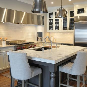 White and Gray Kitchen, Transitional, kitchen, KItchen Lab