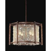 Lighting - Dark Brown 4-light Crystal Pendant | Overstock.com - bronze, iron, clear, crystal, pendant,
