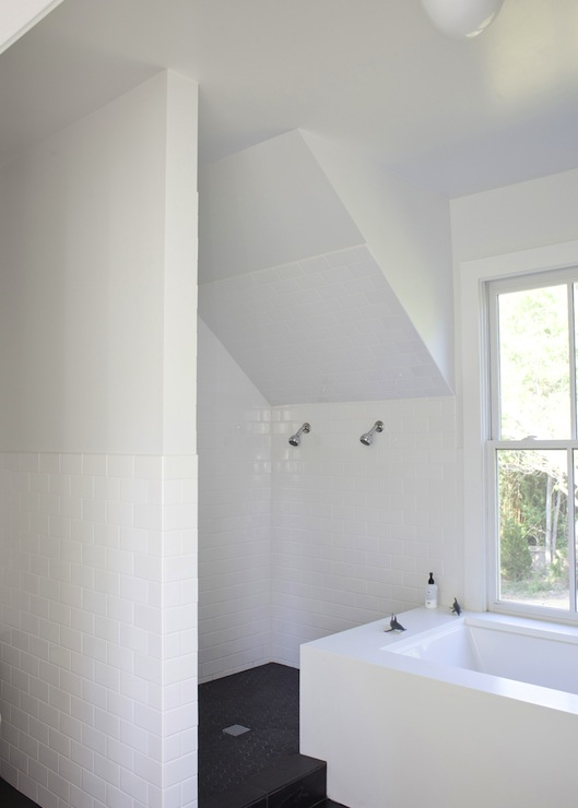 Attic Shower Design Modern Bathroom Heather A Wilson