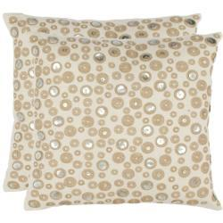 Star Skies 18-inch Cream Decorative Pillows (Set of 2), Overstock.com