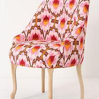 Seating - Raspberry Ikat Pull-Up Chair - Anthropologie.com - raspberry, ikat, chair, accent, pink, fuchsia,