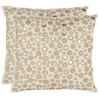 Pillows - Star Skies 18-inch Cream Decorative Pillows (Set of 2) | Overstock.com - cream, pillow, silver, beige, modern, print, handwoven,