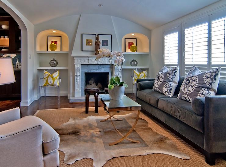 Fireplace Alcoves Contemporary Living Room Tamara