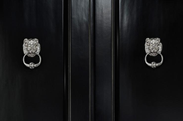 Lion Door Knockers Transitional Entrance Foyer