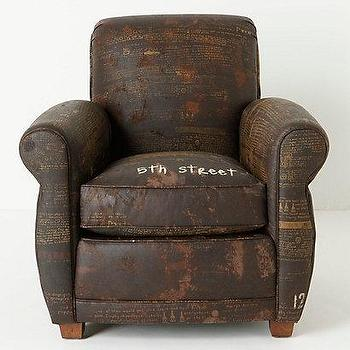 Seating - Maggie Club Chair, 5th Street - Anthropologie.com - scrolled, tonal, brown, vintage, chair, hand-distressed,