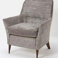 Seating - Oresund Chair - Anthropologie.com - gray, cotton, scrollwork, upholstered, vintage, chair,