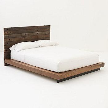 Beds/Headboards - Hidalgo Bed - Anthropologie.com - slatted, headboard, platform, bed, handcrafted, reclaimed, wood,