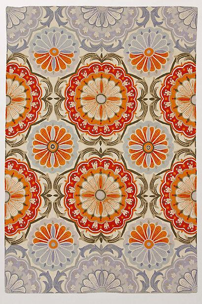 Rugs with orange