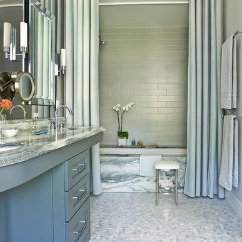 Gray Bathroom, Contemporary, bathroom, Mark Williams Design