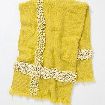Beds/Headboards - Spreading Landscape Throw - Anthropologie.com - wool, lime, yellow, throw, tassels,