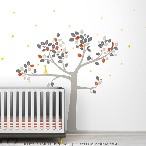 baby room wall decals etsy baby nursery decor tree wall decal by leolittlelion on etsy - Etsy Baby Room