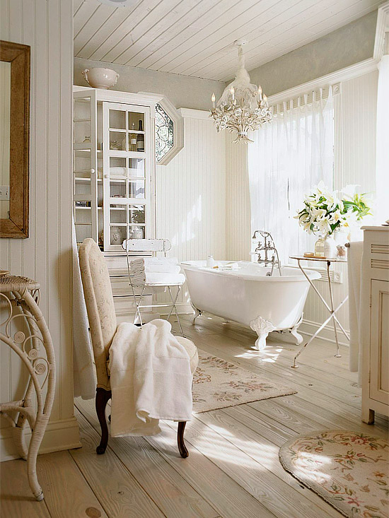 Shabby Chic Bathroom - Cottage - bathroom - BHG
