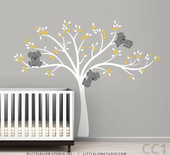Wall decal modern koala cuteness by leolittlelion on etsy - Stickers repositionnables chambre bebe ...