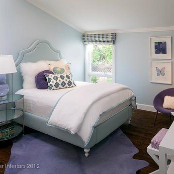 Purple and Blue Girl's Room, Contemporary, girl's room, Holly Bender Interiors