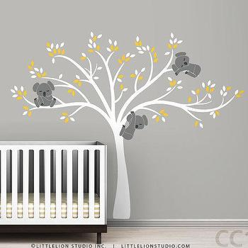Wall decal Modern Koala Cuteness by LeoLittleLion on Etsy