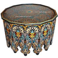 Morrocan table - living rooms - living room, coffee table,  table, painted, morrocan