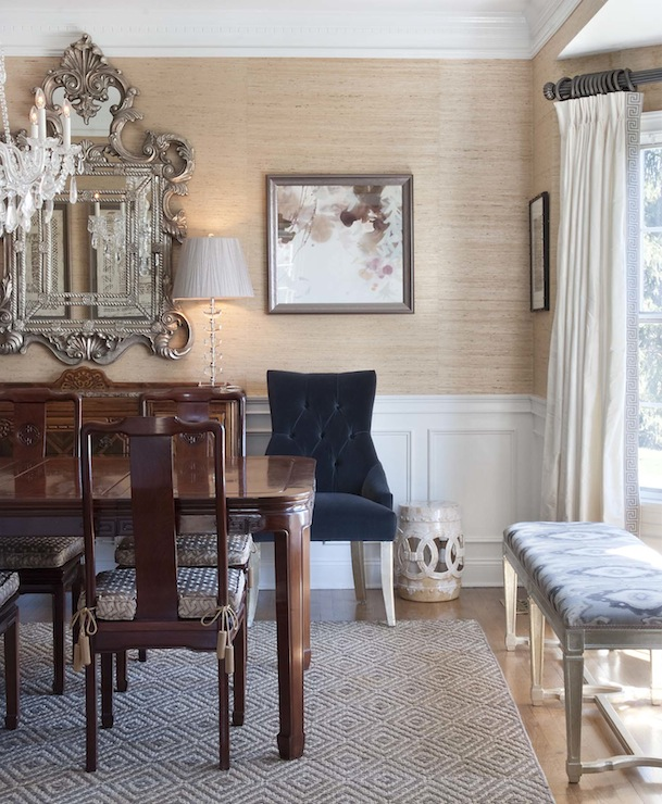 Dining room wainscoting eclectic dining room papyrus home design