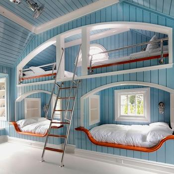 Built-In Bunk Beds, Cottage, boy's room