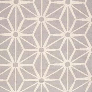 Rugs - Jill Rosenwald Studio - Starburst : Light Gray - gray, white, geometric, rug,