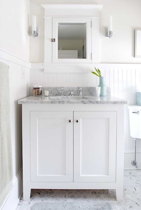 White Beadboard Bathroom Cottage Bathroom Papyrus Home Design