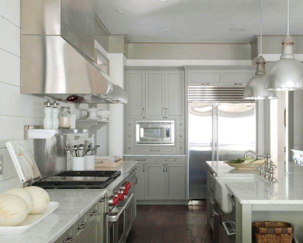 Gray Kitchens  Cottage  kitchen  Benjamin Moore Gettysburg Gray