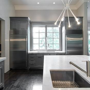 Modern Gray Kitchen, Modern, kitchen, Pricey Pads