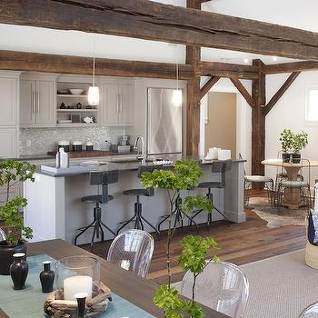 Rustic Wood Beams, Country, kitchen, Papyrus Home Design