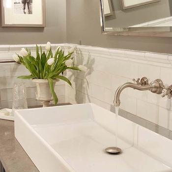 Subway Tile Backsplash, Transitional, bathroom, Papyrus Home Design